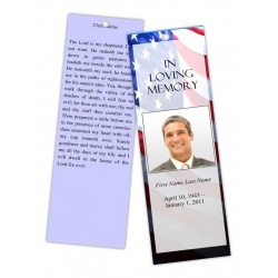 Patriotic (US) Bookmark Template