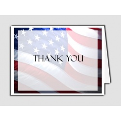 Patriotic (US) Thank You Card Template