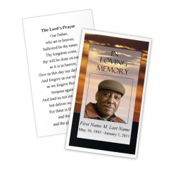 Brown Sunset Memorial Prayer Card Template