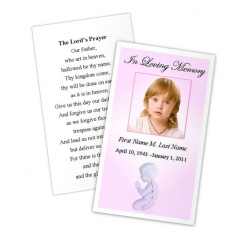 Precious Pink Angel Memorial Prayer Card Template