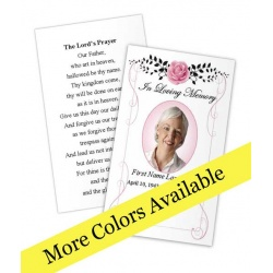 Beloved Vintage Rose Memorial Prayer Card Template