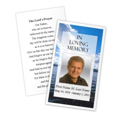 Wade in Water Memorial Prayer Card Template