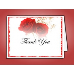Red Rose Thank You Card Template