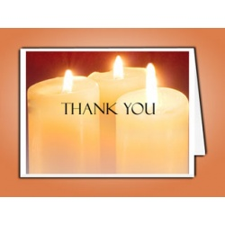Sacred Candles Thank You Card Template