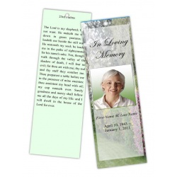 Spring Garden Bookmark Template