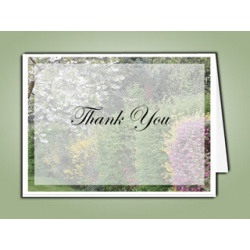 Spring Garden Thank You Card Template
