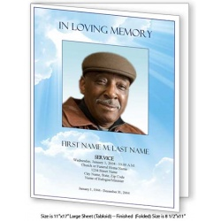 Blue Sky Large Funeral Program Template
