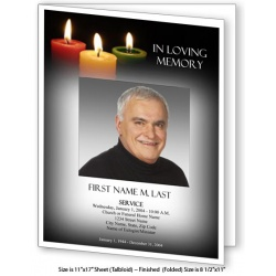 Glowing Memories Large Funeral Program Template