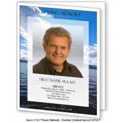 Wade in Water Large Funeral Program Template