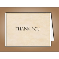 Tan Simplicity Thank You Card Template