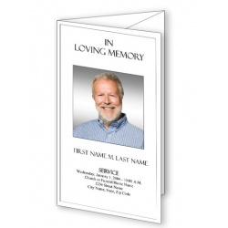 Plain Trifold Funeral Program Template