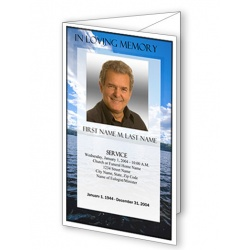 Wade in Water Trifold Funeral Program Template