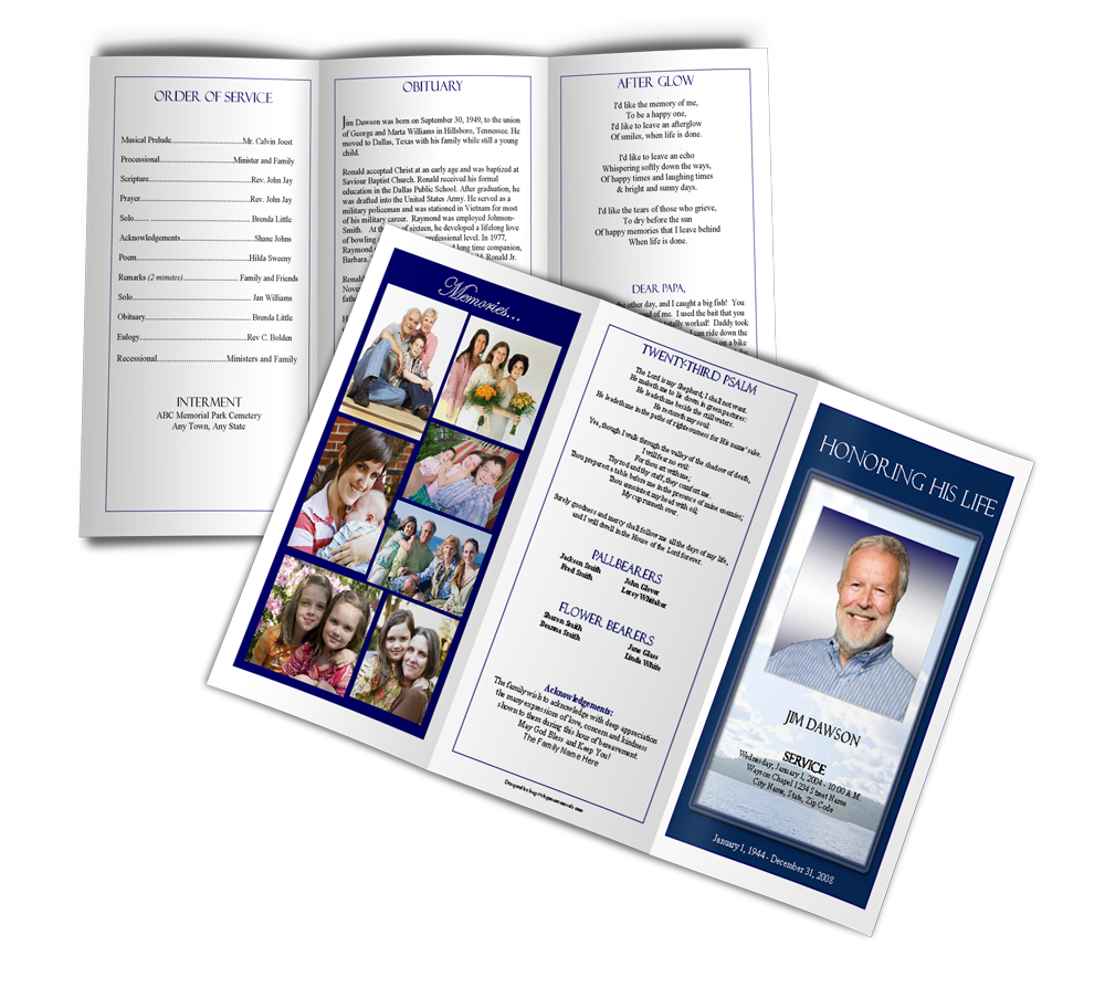 five tips for professional looking funeral programs