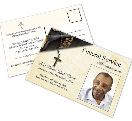 Memorial Cards Templates – Funeral Invitation Cards
