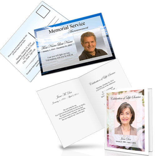 Funeral Invitations Templates Wording Elegant Memorials