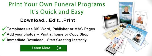 funeral program paper funeral printing print booklets elegant