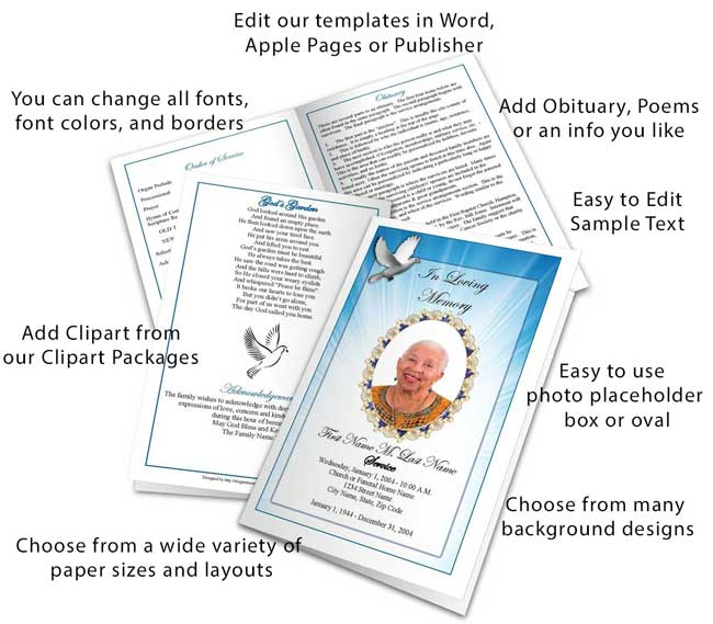 Select a Funeral Program Design and Layout – Funeral Program Samples