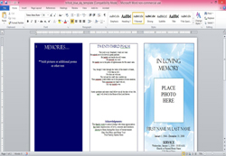 Funeral Program Template Msword  Funeral Program Word Template