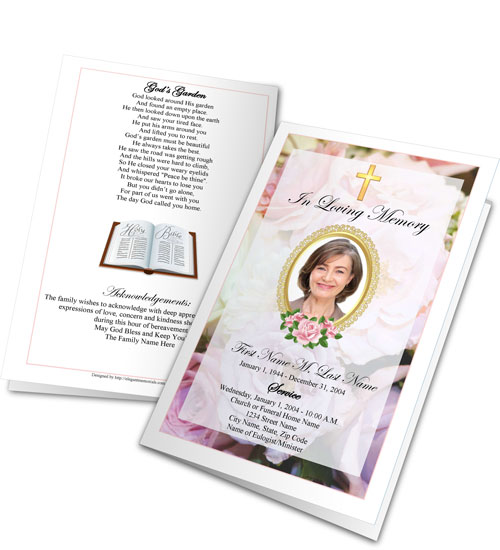 Funeral Program Clipart
