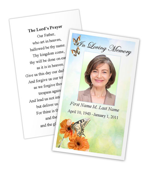 Memorial Cards Templates | Funeral Cards Template