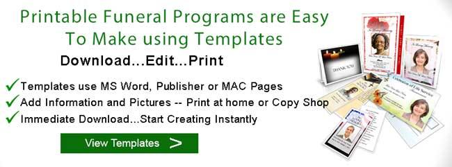 printable funeral programs templates elegant memorials