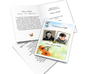 2 frame bifold card butterfly template