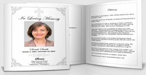 Elegant Memorials Funeral Program Templates