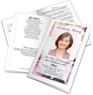 make a funeral program create funeral programs