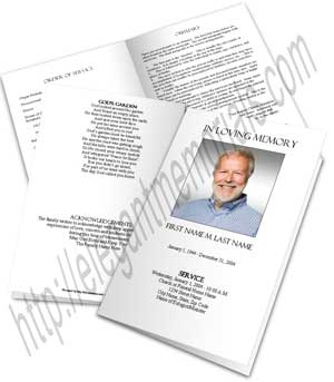 Blank Funeral Program Template Memorial Elegant Memorials