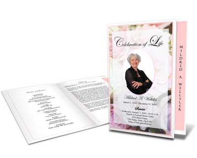 Celebration Of Life Service Program Sample Samples Of Memorial - Celebration of life template