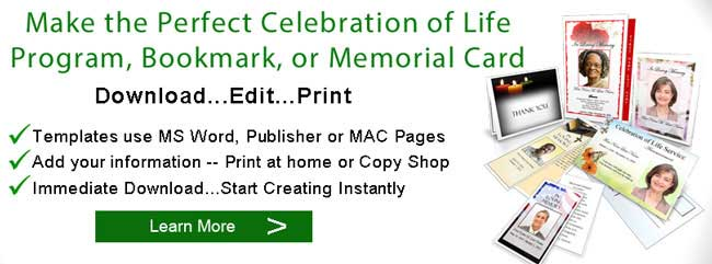 Celebration Of Life Service Memorial Planning Ideas Programs - Celebration of life template