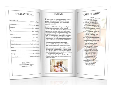 Christian Funeral Program Sample 2  Burial Ceremony Program