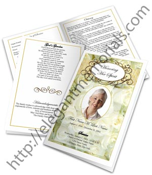 funeral booklets