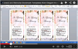 funeral bookmark video