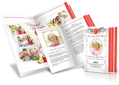 Funeral handouts memorial keepsakes for Funeral handouts template