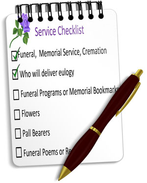 Funeral Service Checklist Guide for Planning Funerals Memorial