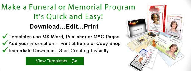 Sample Funeral Program Memorial Booklet Samples – Funeral Program Format Template