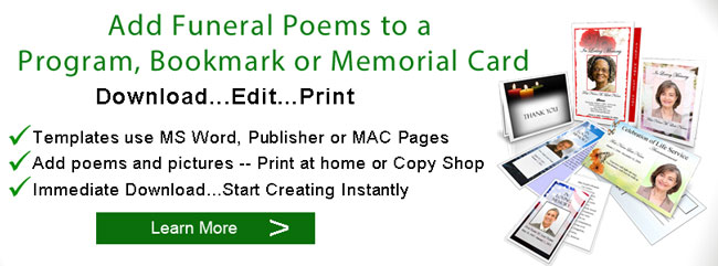 funeral non rel poems programs banner