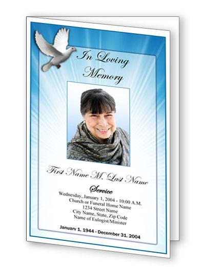funeral pamphlet memorial pamphlets service handouts elegant