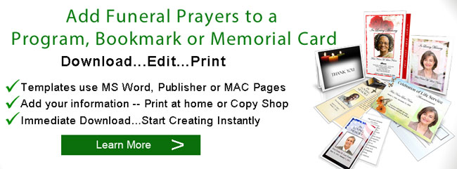 funeral prayers programs banner