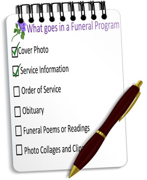 funeral program checklist