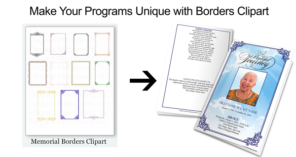 funeral program clipart borders ad