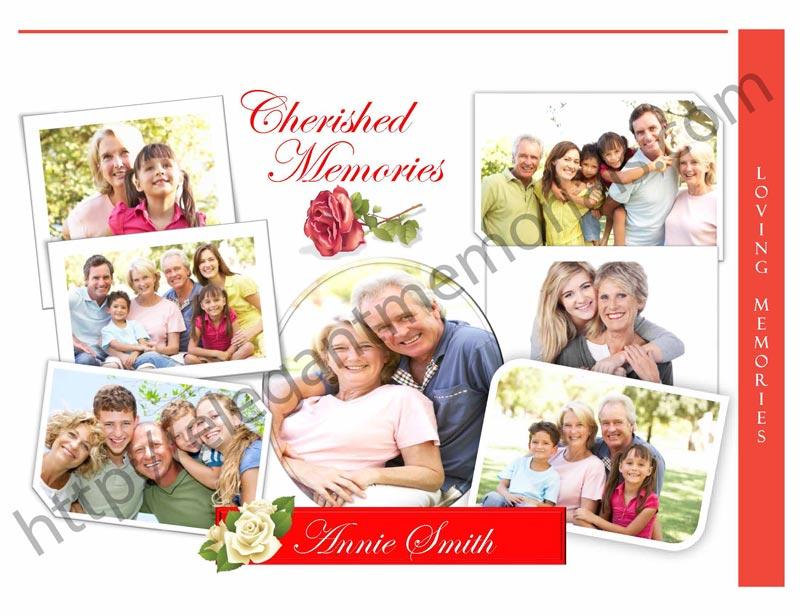 funeral program photo collages memorial booklet pictures elegant