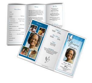 funeral program example trifold