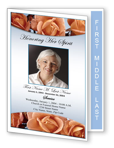 graduated fold funeral programs