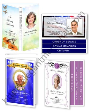 funeral program layout collage sm