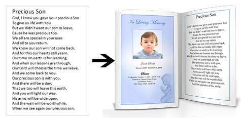 Funeral Poems for Children Child Kids – Child Funeral Program Template