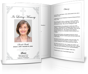 Plain Funeral Program Template Sample  Free Memorial Template