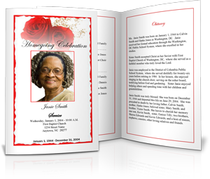 Funeral Program Design Gallery Funeral Program Template