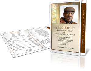 funeral program sample graduated fold